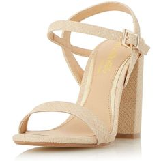 Dorothy Perkins **Head Over Heels Nude Block Heel Sandals (€80) ❤ liked on Polyvore featuring shoes, sandals, white, white heeled sandals, strappy heel sandals, block-heel sandals, nude sandals and white strap sandals
