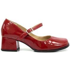 Sapato Retro em Couro Doll
