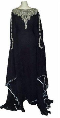 Dubai Black Kaftan Desert Party Dress Arabic Caftans Gowns Plus size available