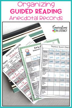 Tips for Getting Your Anecdotal Records & Guided Reading Notes Organized - Kindergarten Organization 2020 Guided Reading Organization, Guided Reading Table, Guided Reading Lesson Plans, Reading Notes, Reading Centers, Teacher Organization, Literacy Centers, Fluency Activities, Word Work Activities