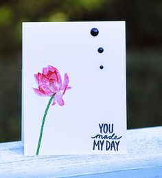 Any occasion card, Lotus Blossom stamp, Best Day Ever Stamp,  Sale-A-Bration 2015, fast card to mass produce