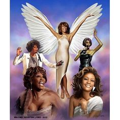 A Tribute to Whitney Houston by Wishum Gregory inches - Unframed - African American Music Art) Black Girl Art, Black Women Art, Afro, Whitney Houston Pictures, Black Art Pictures, African American Artist, African Art, Gif Animé, Black Artists