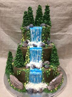 My waterfall birthday cake. My waterfall birthday cake. My waterfall birthday cake. My waterfall birthday cake. Pretty Cakes, Cute Cakes, Beautiful Cakes, Amazing Cakes, Fancy Cakes, Animal Birthday Cakes, New Birthday Cake, Cake Decorating Techniques, Cake Decorating Tutorials