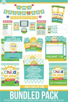 """FREE Printables for the 2018 LDS Primary Theme, """"I am a child of God."""" 