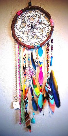 Colorful dream catcher #Anthropologie #PinToWin #DIY #CRAFTS #HAWA #inspiration