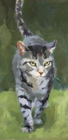 FullSizeRender by Katya Minkina Oil ~ x - Malerei / Bilder - Katzen / Cat Photo Chat, Watercolor Cat, Cat Drawing, Drawing Faces, Animal Paintings, Pet Portraits, Cat Art, Pet Birds, Illustration Art
