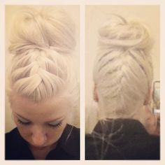 double french braid bun