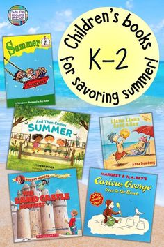 Summer themed children's stories to flood the senses with sights, sounds, smells and warmth of summer! Summer themed children's stories to flood the senses with sights, sounds, smells and warmth of summer! Kindergarten Lesson Plans, Kindergarten Literacy, Early Literacy, Literacy Centers, Summer Story, Thing 1, Common Core Reading, Early Learning, Summer Activities For Kids