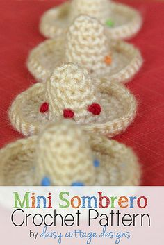 Sombrero Crochet Pattern by Daisy Cottage Designs, via Flickr