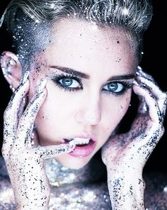 #MileyCyrus #Glitter I love this photo of her! So Pretty! @Kristen - Storefront Life - Storefront Life Goldman