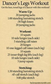 Dancer's Leg Workout. Did this in class the other day. Killer