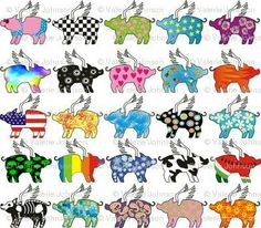 Flying Pig Coloring Pages Free Printable Animals