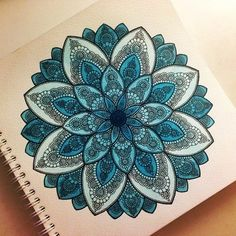 Flower mandala #blue
