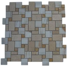 Splashback Tile Parisian Pattern Calcutta Blend 12 in. x 12 in. x 8 mm Marble Mosaic Floor and Wall Tile, Beige/Ivory