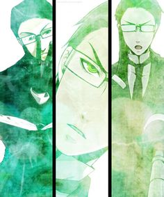 """Black Butler ~~ Shinigami in green :: William T. Spears {{ yes. he's """"Spears-mint"""" }}"""