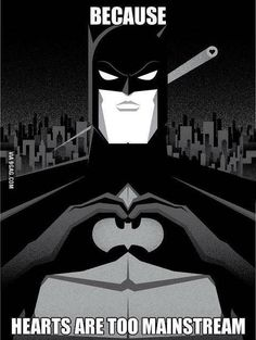 I can totally make the batman symbol, now I just need darkness and a flashlight to prove it haha