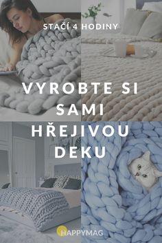 Rádi pletete a vyrábíte své vlastní dekorace do bytu? Vyrobte si tuto božskou pletenou deku. Návštěva vám ji bude závidět. Interior Design Kitchen, Merino Wool Blanket, Homemade, Knitting, Crochet, Creative, Crafts, Home Decor, Events