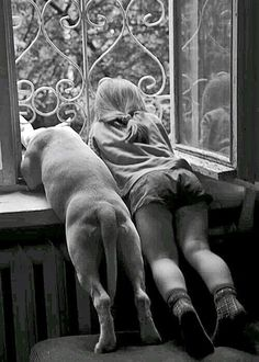 """Best friends from the bottoms of their heart. Whoever said, """"Diamonds are a girls best friend. I Love Dogs, Puppy Love, Mans Best Friend, Best Friends, Friends Forever, Funny Friends, Dog Friends, Tier Fotos, Jolie Photo"""