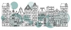 amsterdam houses illustration