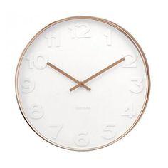 Karlsson Mr White numbers wandklok-Koper #clockwork #clock