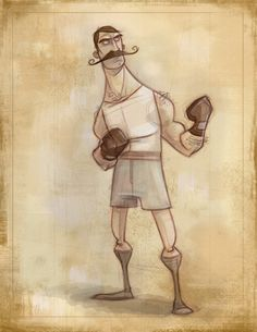 Jason Kraft | Boxer #art #drawing #sketch #illustration #mustache