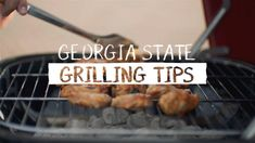 Georgia State Athletics – Grilling Tips Bbq Steak, Barbecue Chicken, Hamburger Ideas, Butterflied Chicken, Diy Grill, Steak Tips, Grilling Tips, Bbq Ribs, Bbq Party