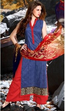 Navy Blue Color Cotton Straight Cut Style Pakistani Stitched Formal Dresses #casual, #salwar, #kameez, #online, #trendy, #shopping, #latest, #collections, #summer,#shalwar, #hot, #season, #suits, #cheap, #indian, #womens, #dress, #design, #fashion, #boutique, #heenastyle, #clothing, #cotton, #printed, #materials, @heenastyle