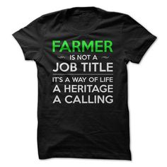 Farmer is not a job title T-Shirts, Hoodies, Sweatshirts, Tee Shirts (19.5$ ==► Shopping Now!)
