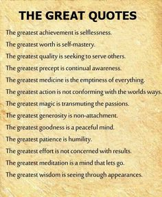 The greatest...