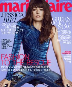 Jessica Biel by Txema Yeste for Marie Claire US August 2017 Cover