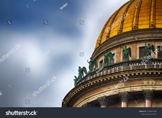 The dome of St. Isaac's Cathedral. Holy temple. Russia, Saint-Petersburg.