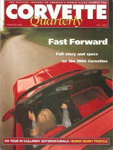 Ivanhoe162 on Ecrater-The Great Ebay Alternative: CORVETTE QUARTERLY MAGAZINE, FALL 1993
