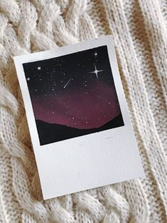 Watercolor Night Sky, Night Sky Painting, Small Canvas Art, Mini Canvas Art, Mini Drawings, Art Drawings Sketches, Polaroid Frame, Watercolor Paintings Abstract, Happy Paintings