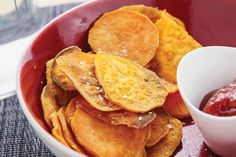 Want a healthy snack? Check out my Sweet Potato Chips!
