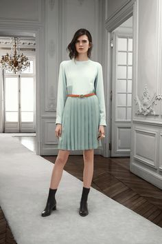 Mint green is transitioning to all season color. #Chloé Pre-Fall 2013    Spring 2013 Fashion Trend: Mint Green + Pleated Skirt