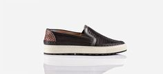 ''Negril'' limited men's slip ons with braided leather