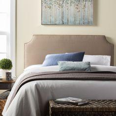 Humble + Haute Raleigh King Size Beige 100% Linen Upholstered Headboard