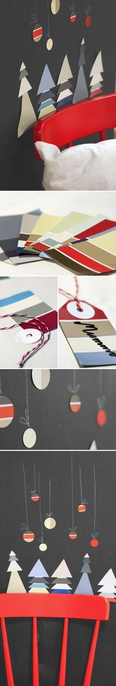 Värilastuaskartelu. lasten   askartelu   joulu   käsityöt   koti   kierrätys   sisustus   DIY ideas   kid crafts   christmas   home   recycling   home decor   Pikku Kakkonen