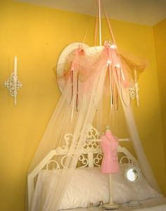 Fairy Princess Bed Canopy Crown Tent Ring SHEERS & Make your own