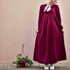 – Hijab Style- HijabOutfit- HijabFashion - All About Islamic Fashion, Muslim Fashion, Modest Fashion, Fashion Dresses, Hijab Dress, Hijab Outfit, Dress Outfits, Moslem, Modele Hijab