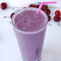 Cherry Almond Smoothie by Healthiersteps