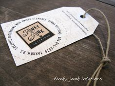 Let's make some blog biz card/tags! | Funky Junk InteriorsFunky Junk Interiors