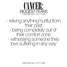 Zodiac Cancer biggest fears. For much more on the zodiac signs, click here.