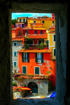 wasbella102:  Tellaro, province of La Spezia , Liguria region Italy  favela of dreams,  from the window of a fortress