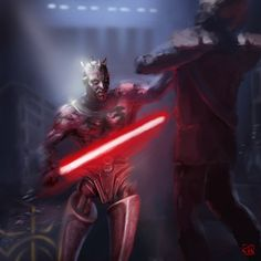 Darth Maul /by RinaCane #@deviantART ~ Gotta say I Was NOT crazy about the cyborg idea , could've done better Lucas Film.