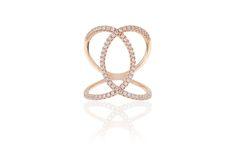 Ring Fucino - 18 kt. rosaforgyldt med hvide zirkoner