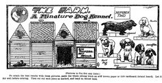 April 05, 1903.  THE FARM, Number Two - A Miniature Dog Kennel. Cut-out Series from 1903.