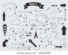 Find Set of hand drawn unique doodle arrows. Stock Images in HD and millions of other royalty-free stock photos, illustrations, and vectors in the Shutterstock collection. Hand Drawn Arrows, Hand Drawn Lettering, Texture Vector, Color Vector, Doodle Arrows, Free Vector Images, Vector Free, Triangle Vector
