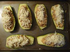 Zapallitos italianos rellenos - Preparación Chilean Recipes, Chilean Food, Beef Dishes, Sweet And Salty, Margarita, Quinoa, Zucchini, Healthy Recipes, Healthy Food