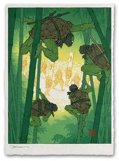 """Ukiyo-E Heroes"" Art Prints by Jed Henry"